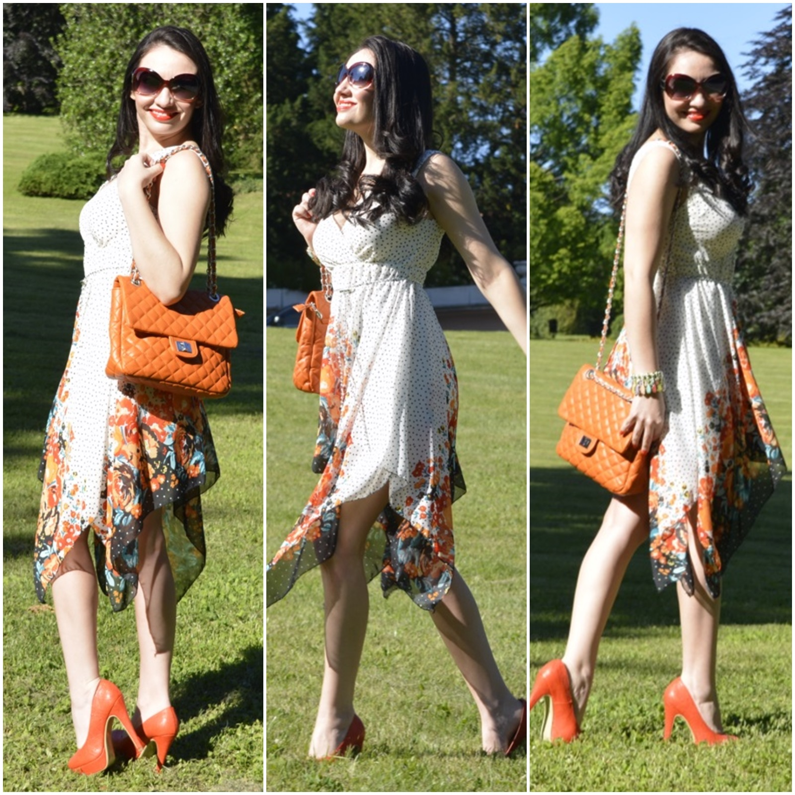look-do-dia-tendências-primavera-verão-2015-floral-gipsy-pois-laranja-nathália-ferrara-1