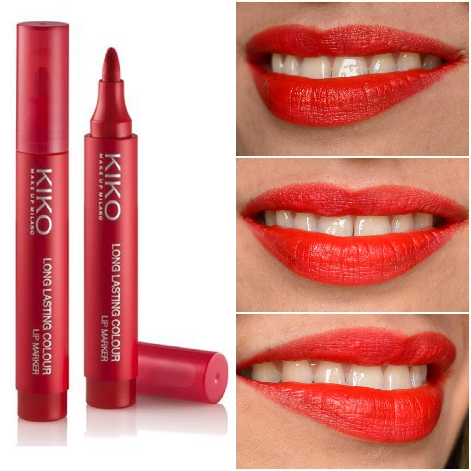 resenha-long-lasting-colour-lip-marker-kiko-cosmetics-102-rosso-geranio-2