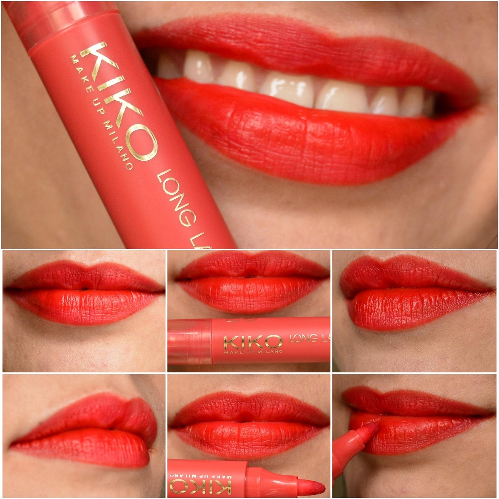resenha-long-lasting-colour-lip-marker-kiko-cosmetics-102-rosso-geranio-8
